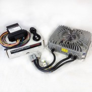 Cargador de bateria CARBAT010 junto con su controlador CARCON010